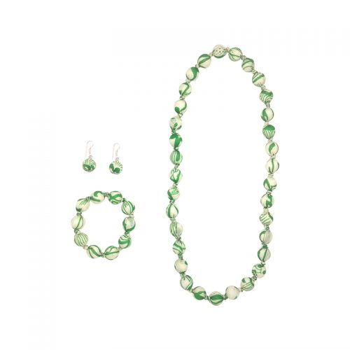 """Beads collection - Set with necklace 28"""" / 70 cm"""