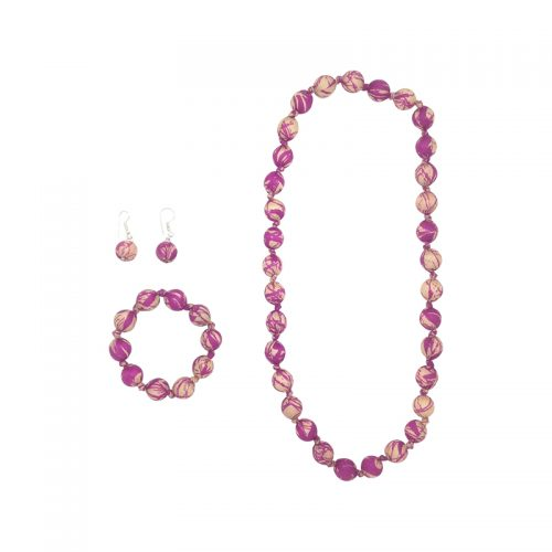 "Beads collection - Set with necklace 28"" / 70 cm"