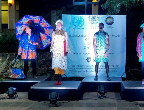 I was a Sari's new collection goes to the Fourth UN Environment Assembly at Nairobi, Kenya