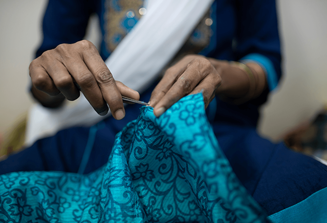 I was a Sari empowering women artisans with job opportunities